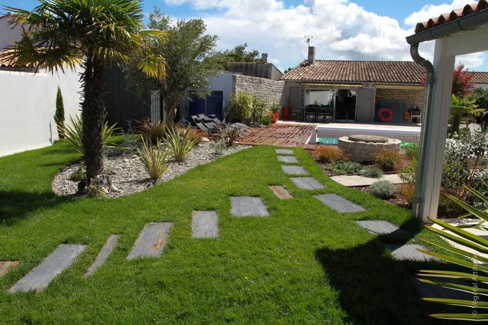Creation D Allee De Jardin Paysagiste La Rochelle Ile De Re