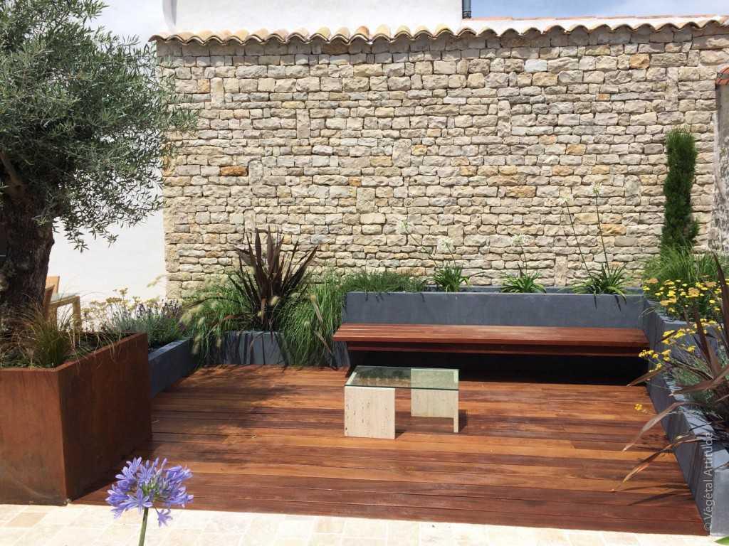 Amenagement Terrasse De Jardin Patio La Rochelle Ile De Re
