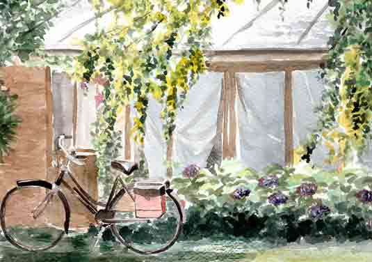 aquarelle végétalisation veranda la rochelle