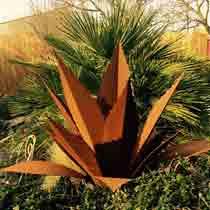décoration Agave acier corten jardin