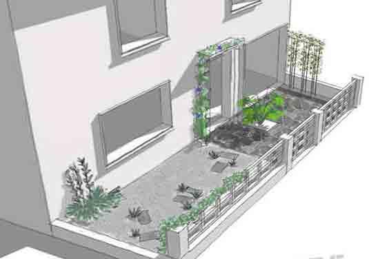 dessin minéralisation jardin la rochelle