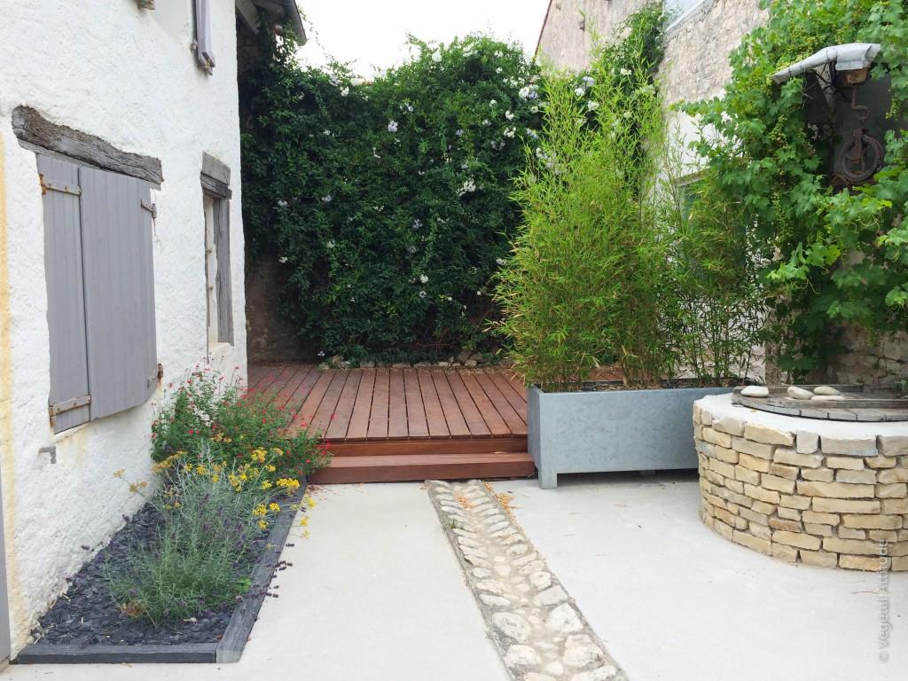 Metal bac zinc jardin terrasse