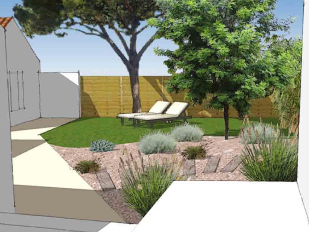 cr ation de jardin de bord de mer au bois plage en r. Black Bedroom Furniture Sets. Home Design Ideas