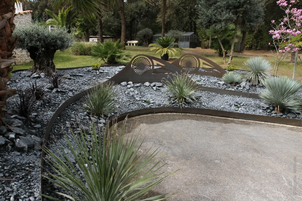 decoration jardin acier Corten Rivedoux