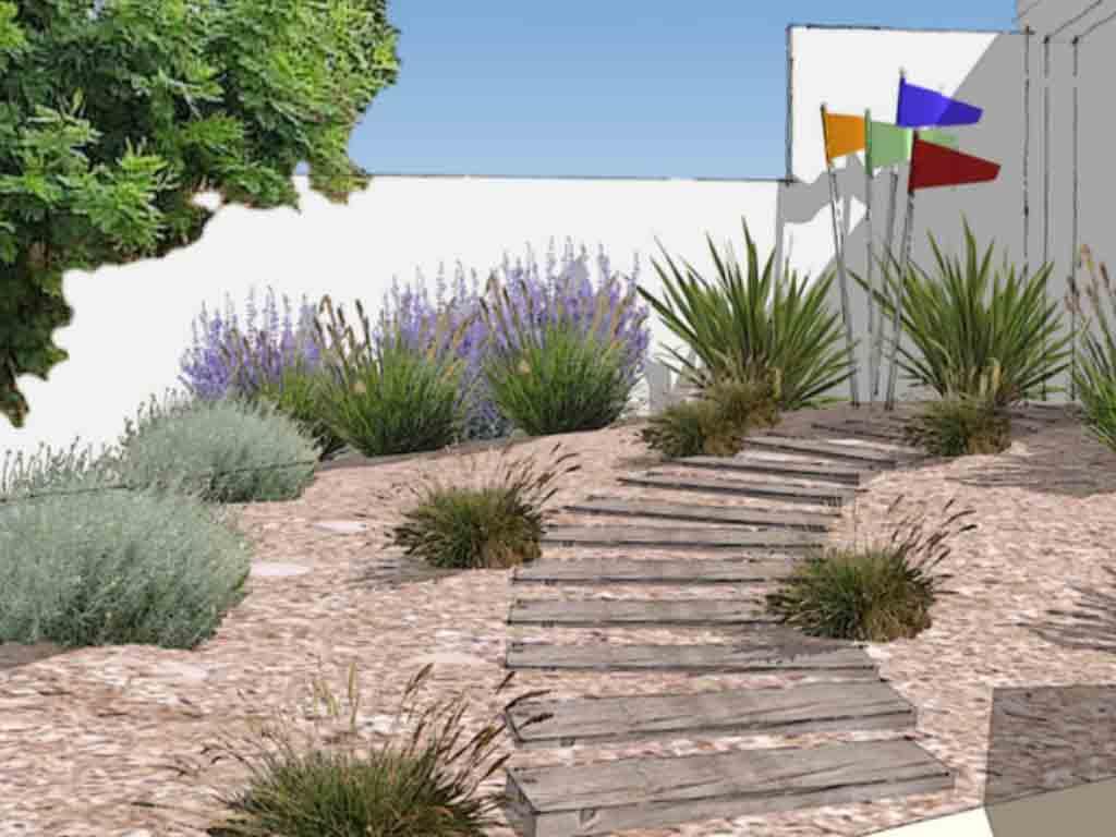 Création de jardin de bord de mer au Bois-Plage en ré